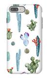 Watercolor Cactus Pattern iPhone 7 Plus Case by  Zenina