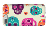Colorful Skull Cute Pattern, Mexican Day of the Dead iPhone 7 Plus Case by  Marish