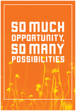 So Much Opportunity (Wildflower Field) Poster
