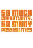 So Much Opportunity (Wildflower Stencil Vert) Plakáty