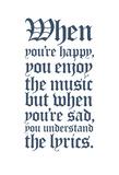Understanding the Lyrics (White) Plakát
