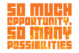 So Much Opportunity (Wildflower Stencil) Foto