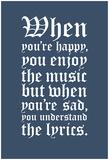 Understanding the Lyrics (Grey) Poster