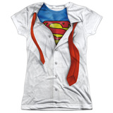 Juniors: Superman - Secret Identity Womens Sublimated