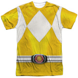 Power Rangers- Yellow Ranger Costume Tee T-Shirt