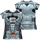 Juniors: Cyborg- New 52 Costume Tee (Front/Back) T-Shirt