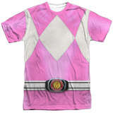 Power Rangers- Pink Ranger Costume Tee Sublimated