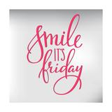 Smile its Friday Lettering Poster by  Lelene