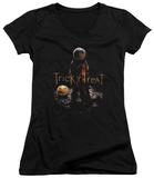 Juniors: Trick R Treat- Samhain V-Neck T-Shirt