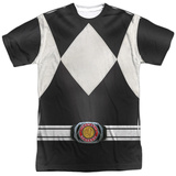 Power Rangers- Black Ranger Costume Tee Shirts