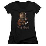 Juniors: Trick R Treat- Sucker V-Neck T-shirts