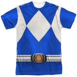 Power Rangers- Blue Ranger Costume Tee T-Shirt