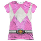 Juniors: Power Rangers-Pink Ranger Costume Tee T-shirts