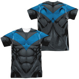 Batman- Nightwing Blue Uniform (Front/Back) T-shirts