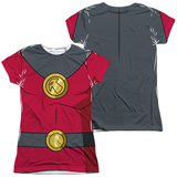 Juniors: Batman Unlimited- Robin Costume Tee (Front/Back) Shirt