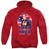 Hoodie: Happy Days- Fonz For Prez Pullover Hoodie