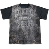 Youth: Chevrolet- Steel Plate Armour Black Back T-Shirt