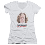 Juniors: Shameless- Frank For President V-Neck T-shirts