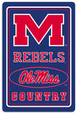NCAA Mississippi Rebels Tin Sign