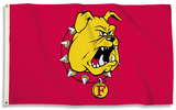 NCAA Ferris State Bulldogs Flag with Grommets Flag