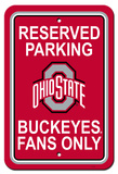 NCAA Ohio State Buckeyes Parking Sign Wall Sign