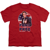 Youth: Happy Days- Fonz For Prez T-Shirt
