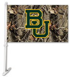 NCAA Baylor Bears Realtree Camo Car Flag with Wall Bracket Flag