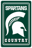 NCAA Michigan State Spartans Tin Sign