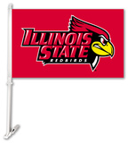 NCAA Illinois State Redbirds Car Flag with Wall Bracket Flag