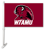 NCAA West Texas A & M Buffaloes Car Flag with Wall Bracket Flag