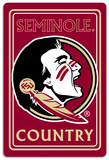 NCAA Florida State Seminoles Tin Sign