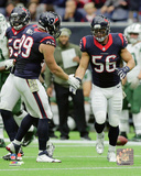 J.J. Watt & Brian Cushing 2015 Action Photo