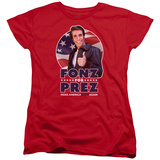 Womans: Happy Days- Fonz For Prez T-shirts