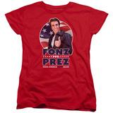 Womens: Happy Days- Fonz For Prez T-shirts