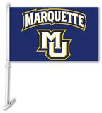 NCAA Marquette Golden Eagles Car Flag with Wall Bracket Flag
