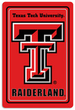 NCAA Texas Tech Red Raiders Tin Sign