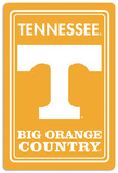 NCAA Tennessee Volunteers Tin Sign