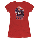 Juniors: Happy Days- Fonz For Prez T-shirts