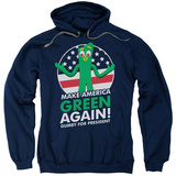 Hoodie: Gumby- For President, Make America Green Again Pullover Hoodie