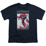 Youth: Superman- Hero For President T-Shirt