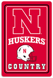 NCAA Nebraska Cornhuskers Tin Sign