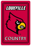 NCAA Louisville Cardinals Tin Sign