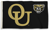 NCAA Oakland Golden Grizzlies Flag with Grommets Flag