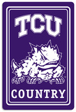 NCAA Texas Christian Horned Frogs Tin Sign