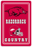 NCAA Arkansas Razorbacks Tin Sign