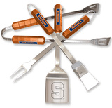 NCAA Syracuse Orange Four Piece Stainless Steel BBQ Set BBQ Grill Set