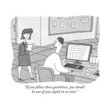 """If you follow these guidelines, you should be out of your depth in no tim - New Yorker Cartoon Premium Giclee Print by Peter C. Vey"