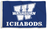 NCAA Washburn Ichabods Flag with Grommets Flag