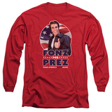 Long Sleeve: Happy Days- Fonz For Prez Shirt