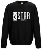 Crewneck Sweatshirt: The Flash- Star Labs Logo (Slim Fit) Trička